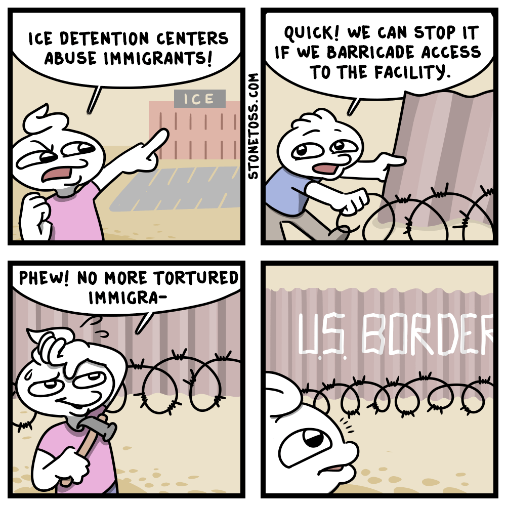 Comic about ICE detention facilities