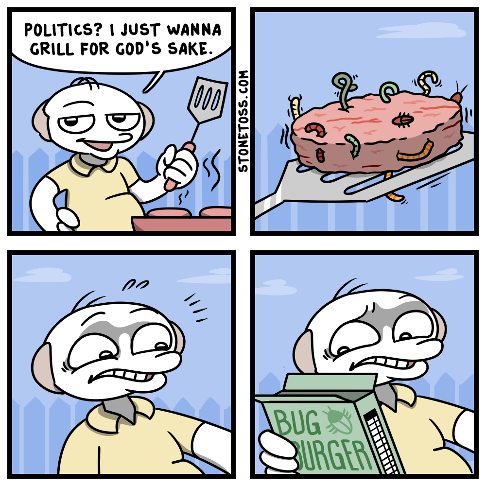 Comic about politics and grilling