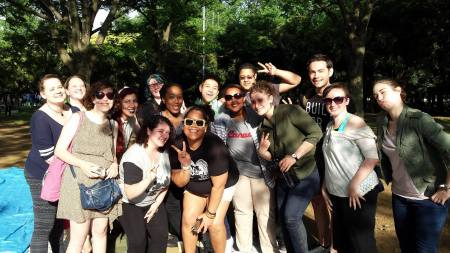 Stonewall Japan and LGBT+ Meet-up members at the picnic in Yoyogi Park
