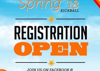 Kickball Spring 2018 Registration Open