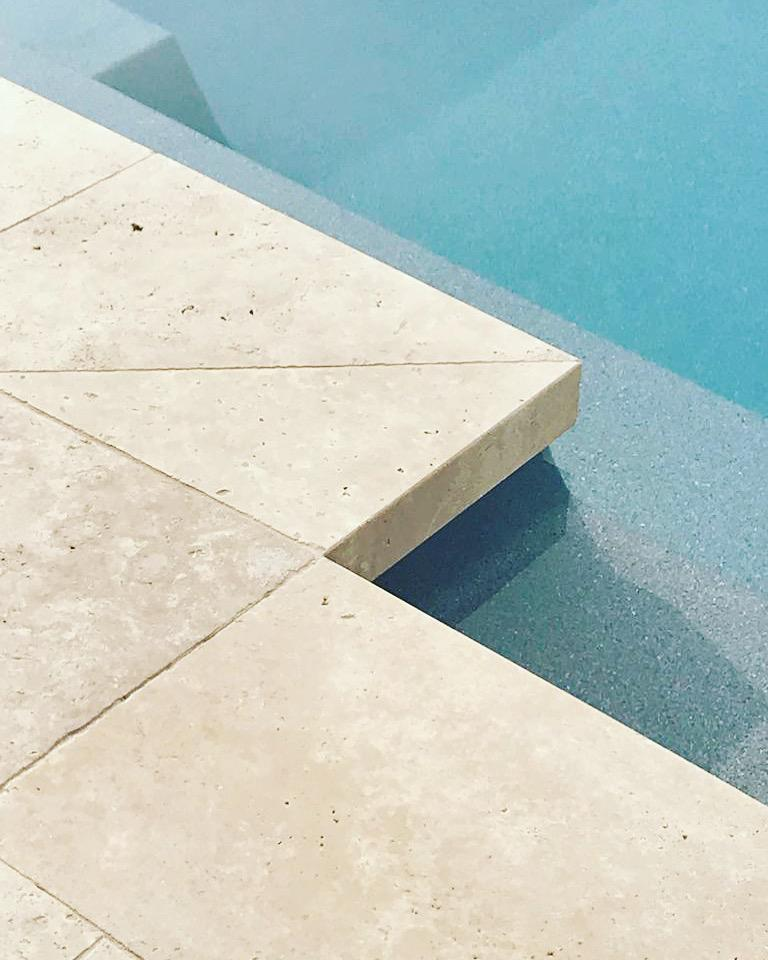 drop edge pool coping or wall capping