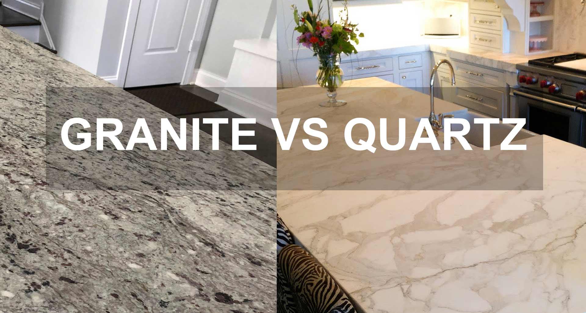 Granite versus quartz countertops for kitchen and bathroom