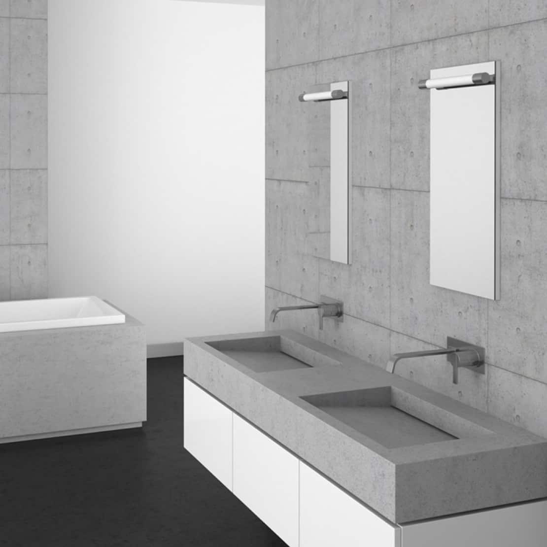 polished concrete sinks and concrete basins
