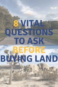 8 land buying questions