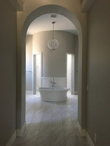 walk-in shower in master