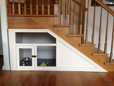no wasted space under stairs