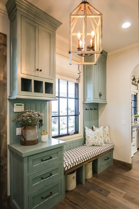Mudroom with counter