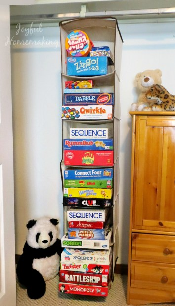 Home Organization Board Games
