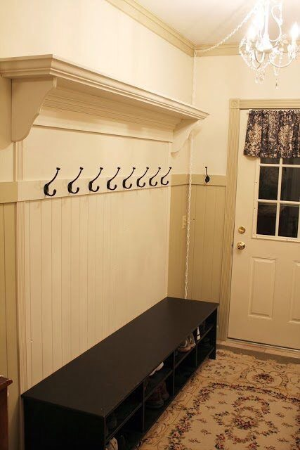 Simple mudroom design