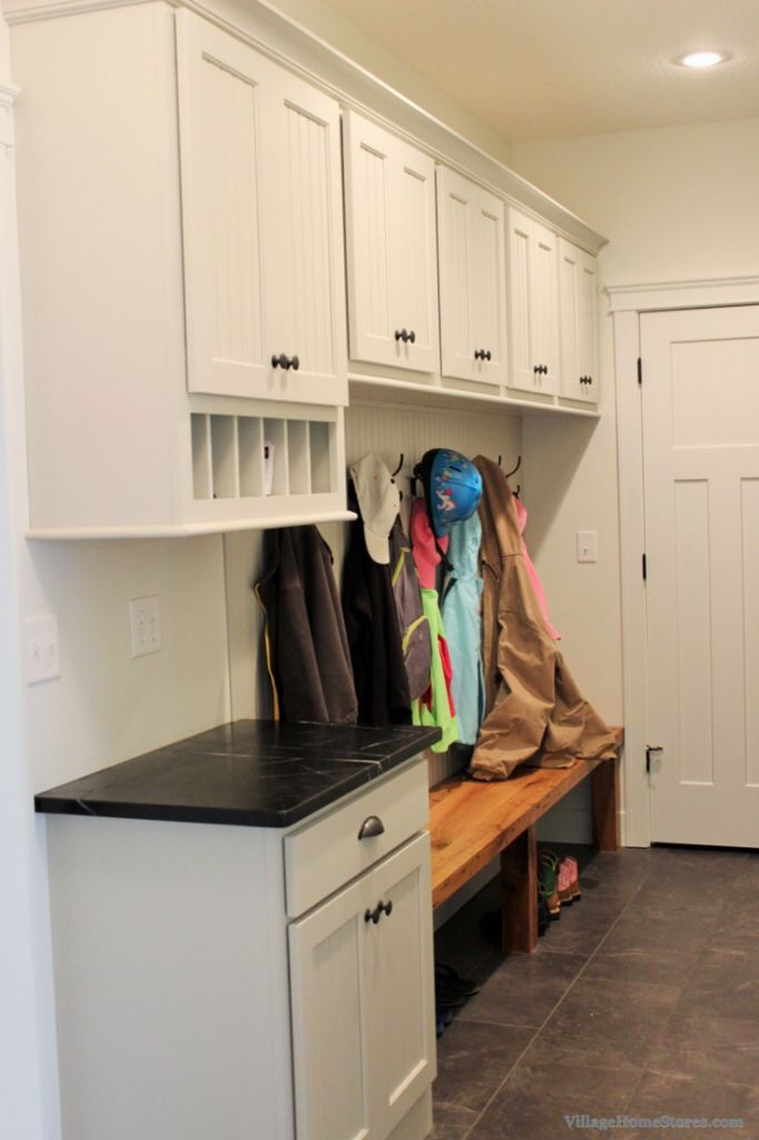 Drop zone and mudroom combo