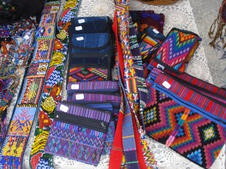 Beautiful handcrafted textile items.