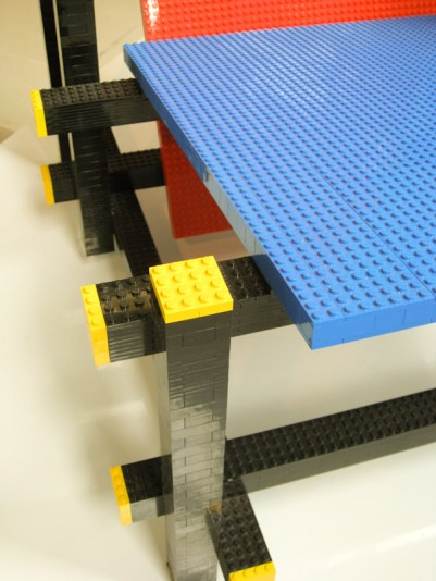 Red Blue Lego Chair detail