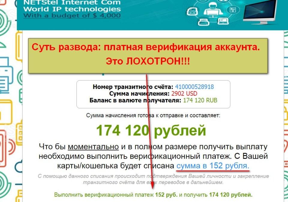 World IP Technologies Association, NETStel Internet com