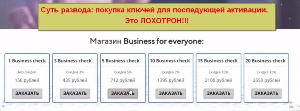 Сервис Business for everyone, заработок на Business Check