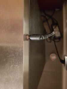 Stromanschluss der Photonlampe