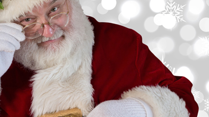 Santa Claus or not. Don't force your kids to sit on anybody's knee