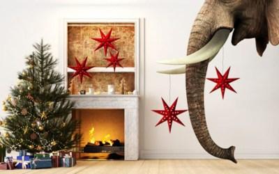 Menu for the holidays: turkey, ham, and…elephant?