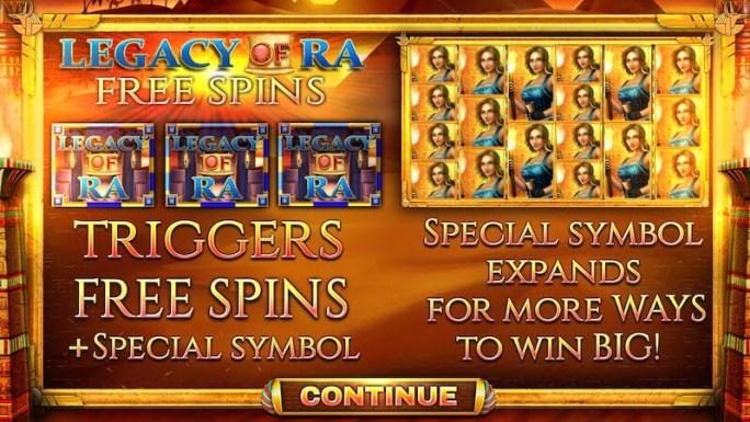 legacy of ra slot rules