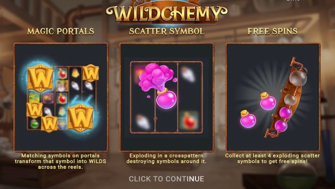 wildchemy slot rules