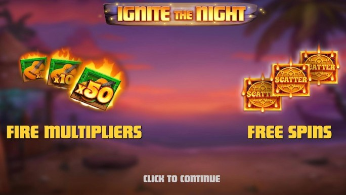 ignite the night slot rules