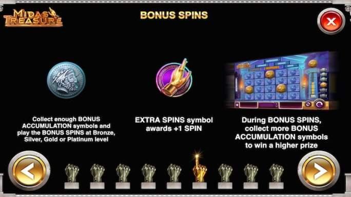 midas treasure slot rules