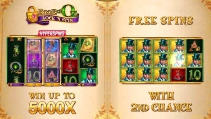 book of oz lock n spin slot rules