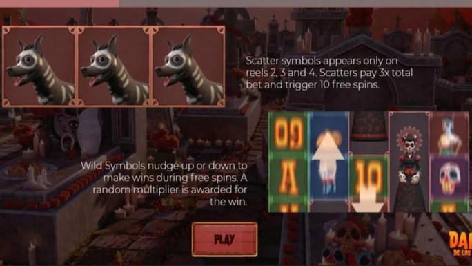 danza de los muertos slot rules