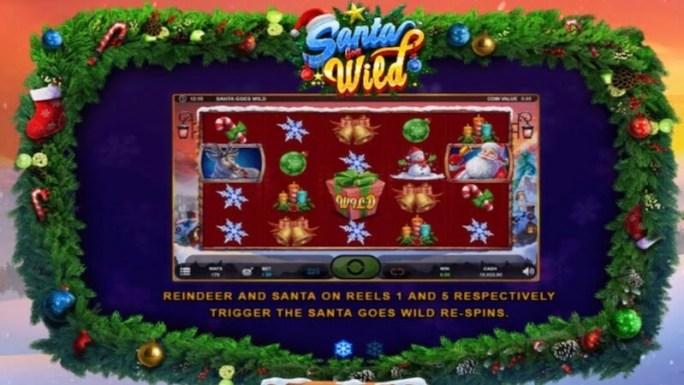 santa goes wild slot gameplay