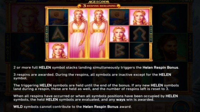 age of the gods epic troy slot rules