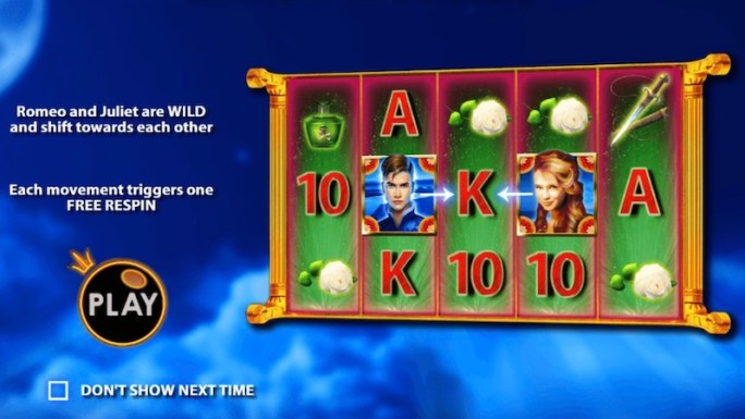 romeo and juliet slot rules