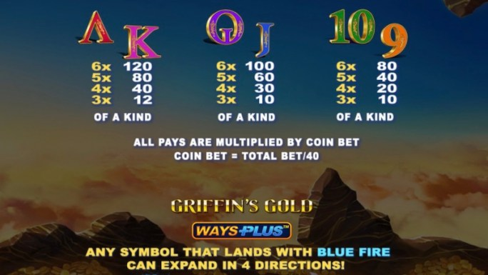 glorious griffin slot rules
