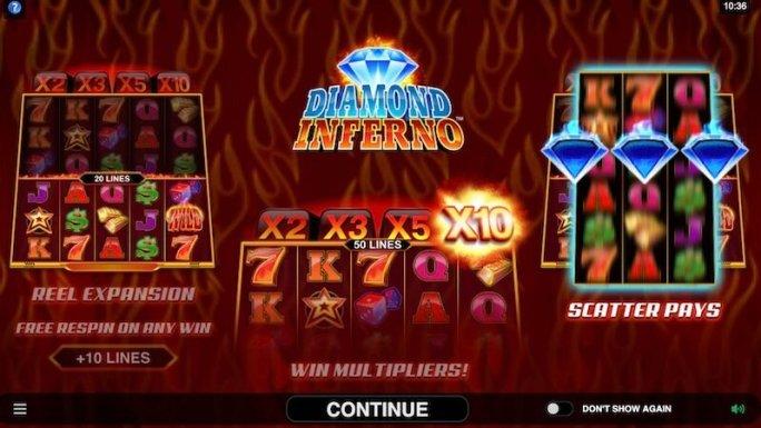 diamond inferno slot rules