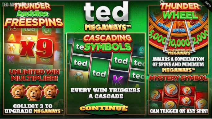 ted megaways slot rules