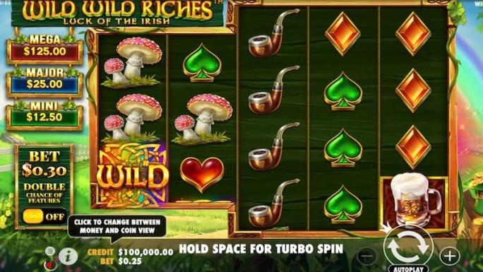 wild wild riches slot gameplay