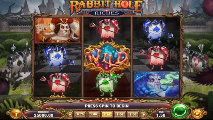 rabbit hole riches slot gaemplay