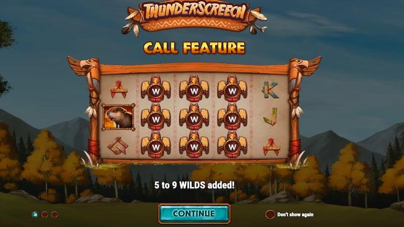 thunder screech slot rules