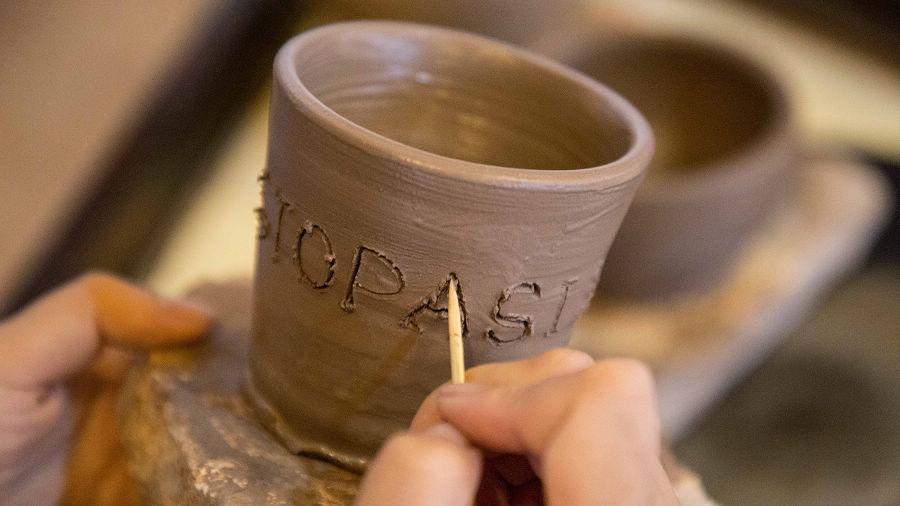 浪漫陶藝 + 彩繪瓷杯