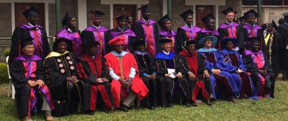 Ceremony participants and lecturers. Ryan is back row, second from right.