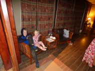 Torin and Saeryn in one of our cabins.
