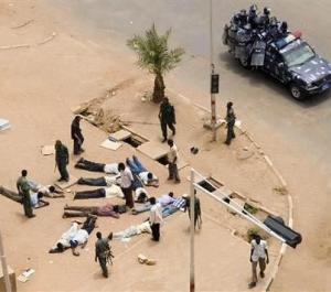 The Sudanese Police arrested many protesters.
