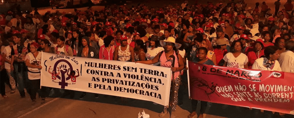 International Women's Day Action in Brazil: Women from MST (Landless Worker's Movement) Occupy Suzano Pulp Mill Against GE Trees