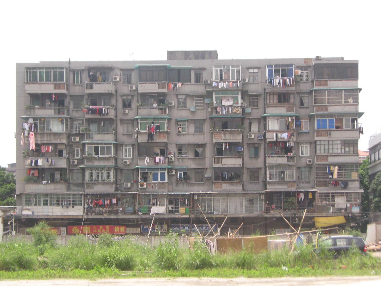 China, Ghetto Apartments.