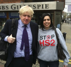 Boris Johnson and Lottie Jones