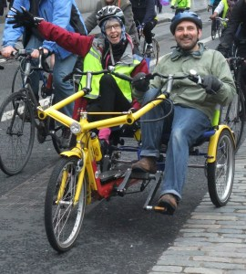 Side-by-side accessible tandem Pedal on Parliament (photo by Kim Harding on flickr)