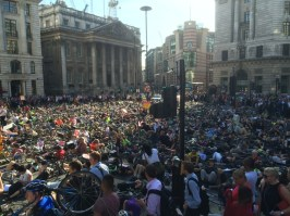 Die-In at Bank, City of London by Stop Killing Cyclists on 29 June 2015 (photo by @ElectricPedals).
