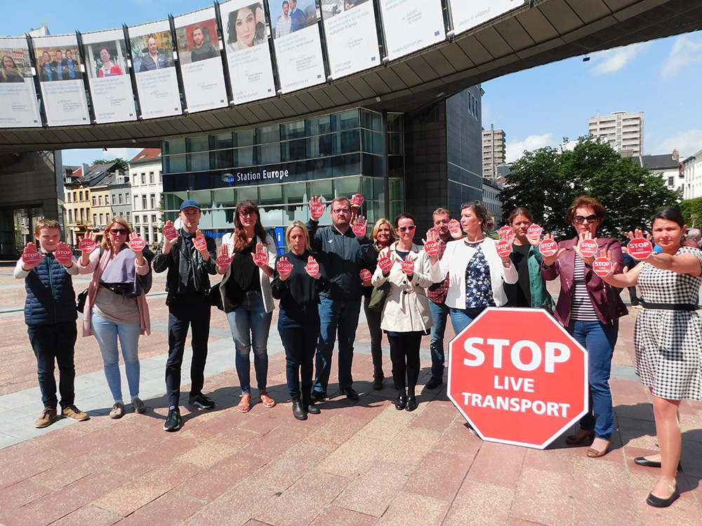 Stop Live Transport Day of Action Belgium