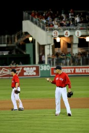 Aceves instructs the infield