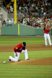 Aceves pays homage to the mound