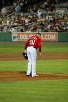 Alfredo Aceves takes the mound