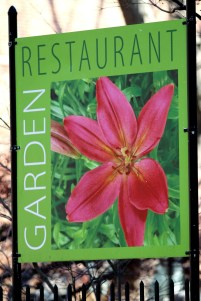 Garden Restaurant Sign-Salem